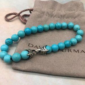 David Yurman beads bracelet with turquoise